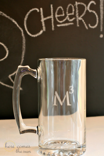 Here Comes the Sun: Etched Glass Father's Day Mug