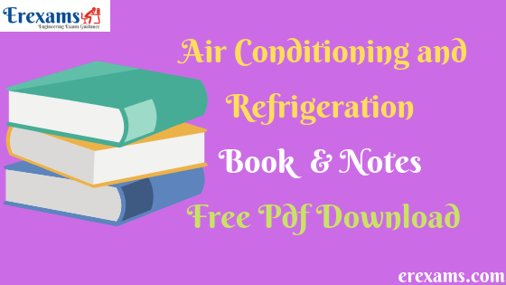 Air Conditioning and Refrigeration Books & Notes Free Pdf Download