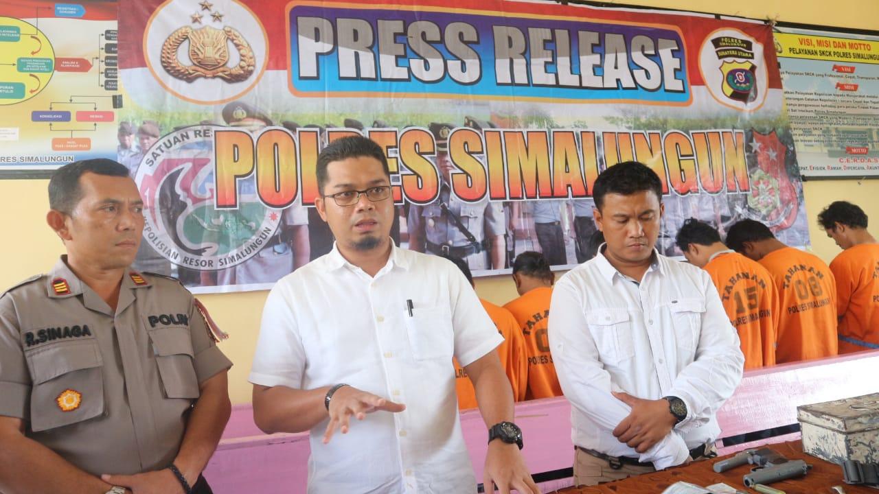 Press Release di Mapolres Simalungun,