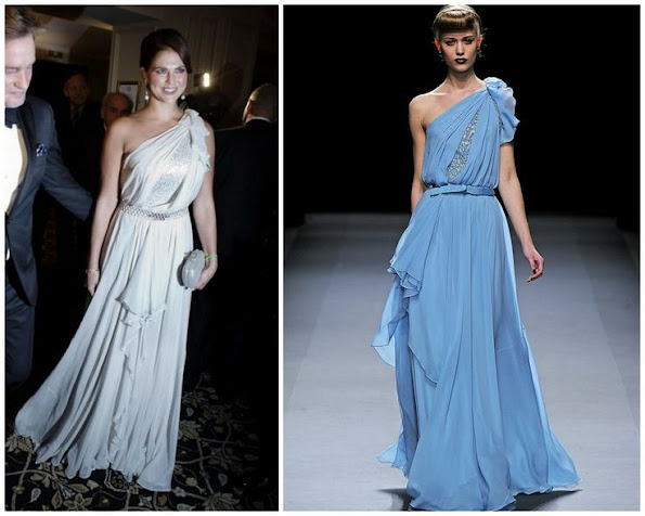 Princess Madeleine wore a gown by Jenny Packham. Jenny Packham is a British fashion designer