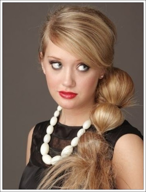 side ponytail hairstyles girls