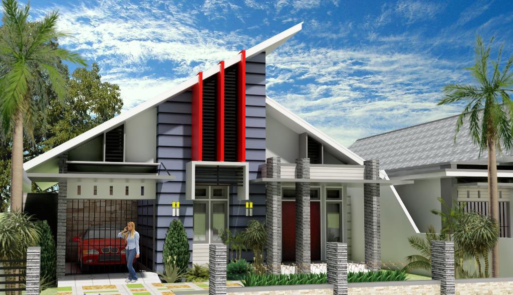 Keren 30 Desain Rumah Dengan Atap Miring Minimalis Model Rumah