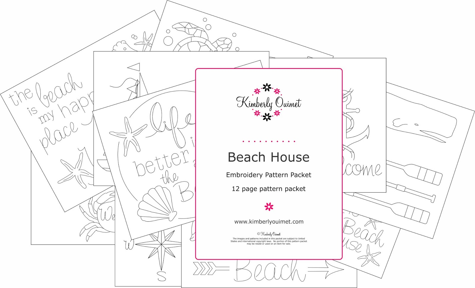 Big B Beach House Embroidery Pattern