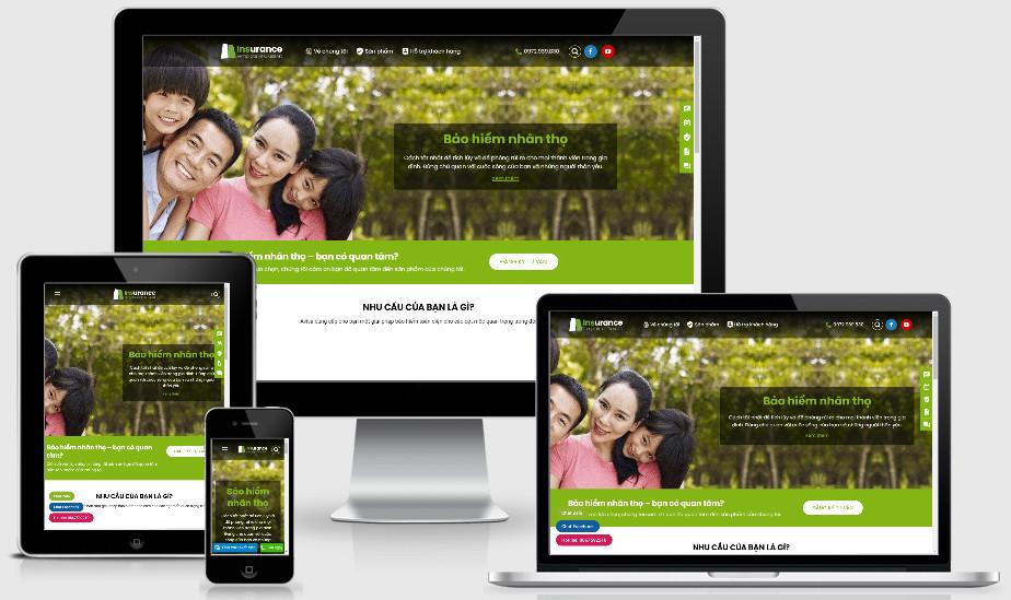 Theme wordpress giới thiệu sản phẩm bảo hiểm | code wordpress bảo hiểm