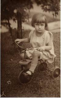 Janet age 2 on a trike, Akron Ohio