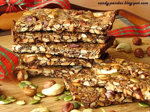 Orzechowe chlebki lniane (bez: mąki, glutenu, cukru, laktozy, wegańskie)