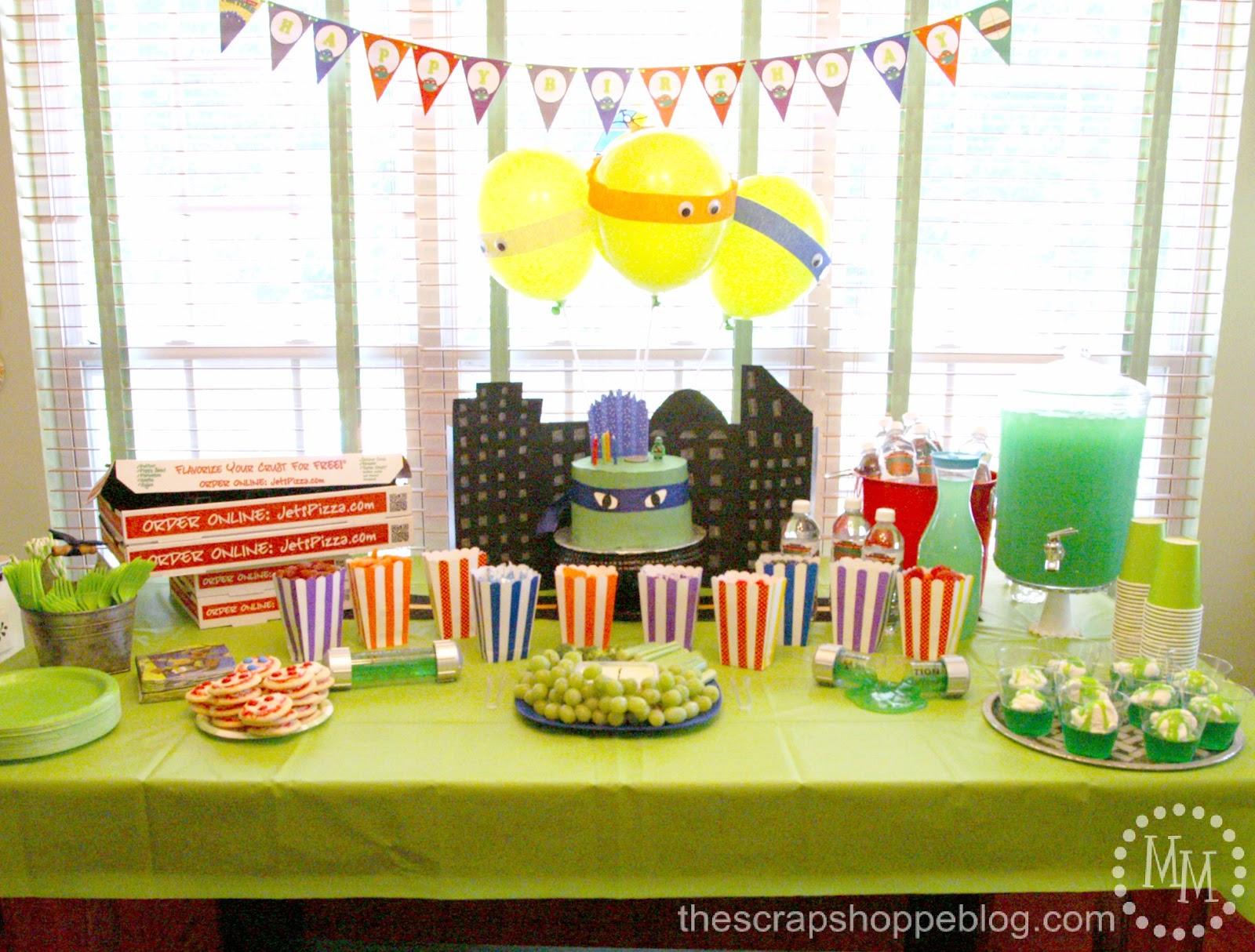 Teenage Mutant Ninja Turtle Tmnt Birthday Party The Scrap Shoppe