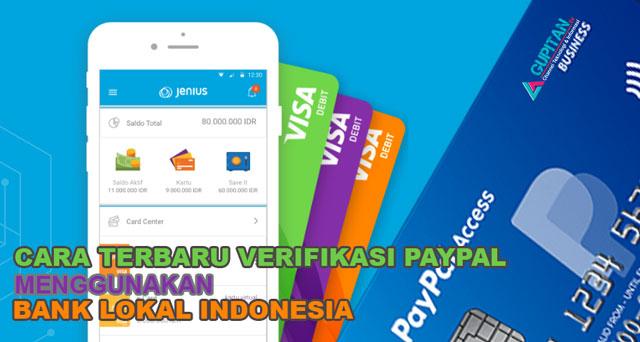 Verifikasi PayPal Menggunakan Bank Lokal Indonesia