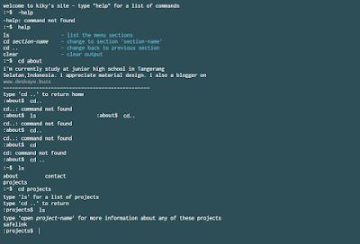 Template Website Tampilan Terminal CMD Gratis Keren