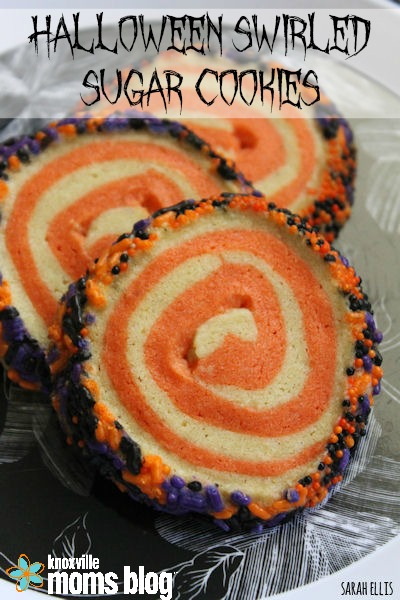 Halloween Swirled Sugar Cookies // These festive sugar cookies are super easy to make // as seen on Knoxville Moms Blog