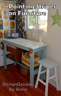 Designdreams by anne hooked on stripes - Painting stripes on furniture ...