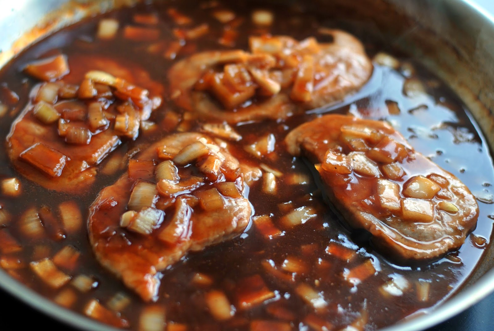 Skillet Barbecue Pork Loin Chops Aunt Bee S Recipes