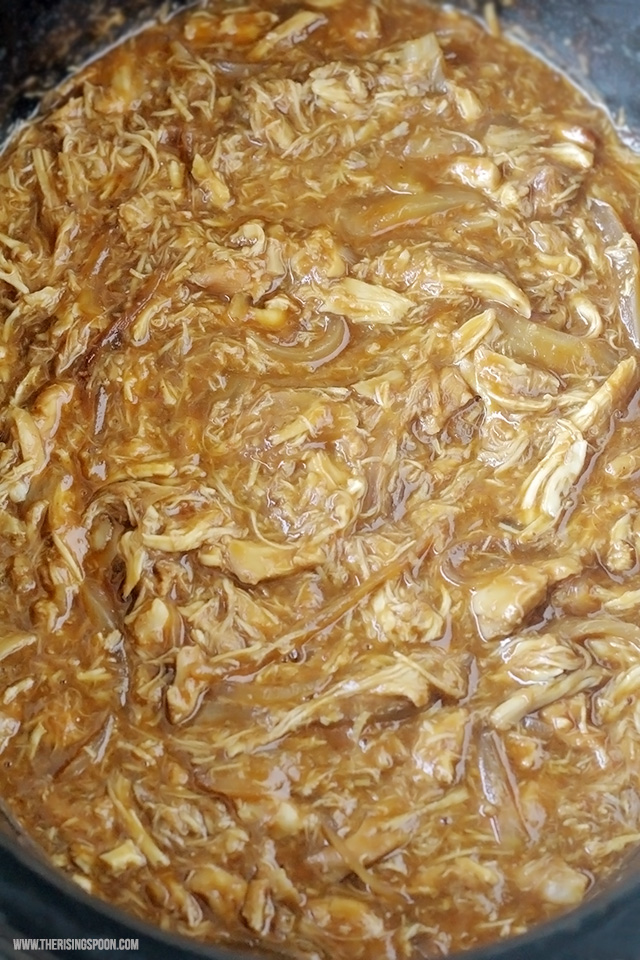 3-Ingredient Shredded Slow Cooker BBQ Chicken
