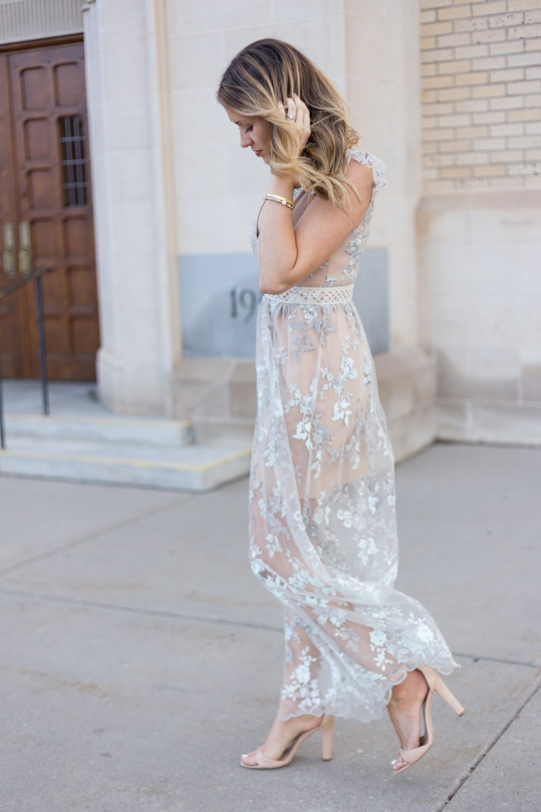 WAYF lace dress