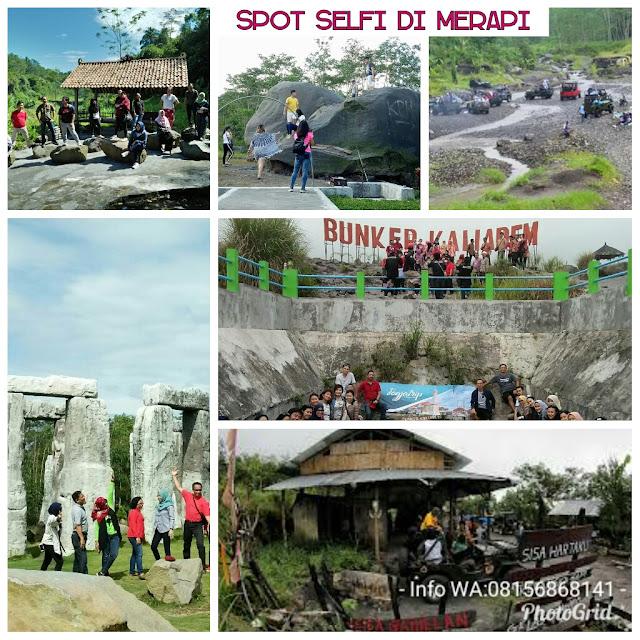 Spot Foto Selfi di Kawasan Wisata Lava Tour Merapi