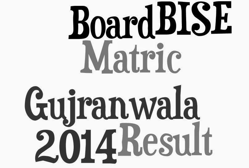 Pakistani Boards Results: GRW Board Matric result 2014