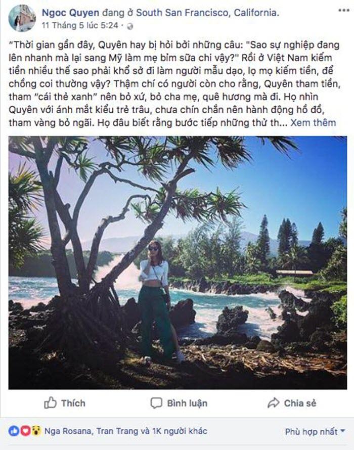 Ngọc Quyên trải lòng từ Mỹ: 'Tôi thấy mình thực sự trưởng thành khi dám đánh đổi' -1