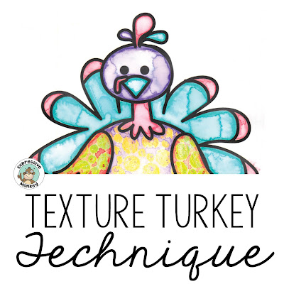 See the step by step demo of this fun texture rubbing art lesson.  Make a texture turkey for a cute Thanksgiving craft or activity.