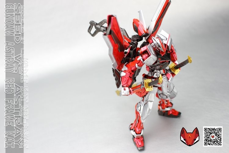Painted Build: MG 1/100 Gundam Astray Red Frame Kai + Metallic Finish