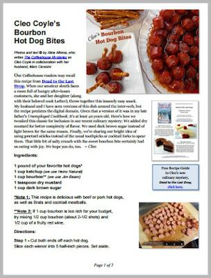 Bourbon hot dog bites cleo coyle pdf coverg forumfinder Image collections