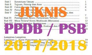 Pedoman Penerimaan Peserta Didik Baru (PPDB) 2017/2018