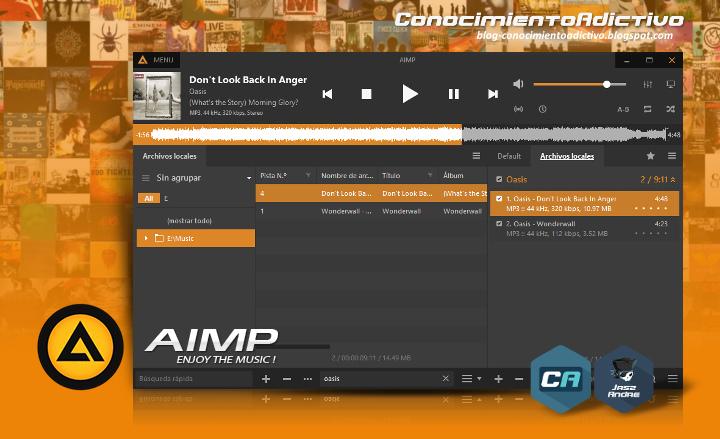 AIMP 4 - Uno de los mejores reproductores de audio por su calidad de sonido