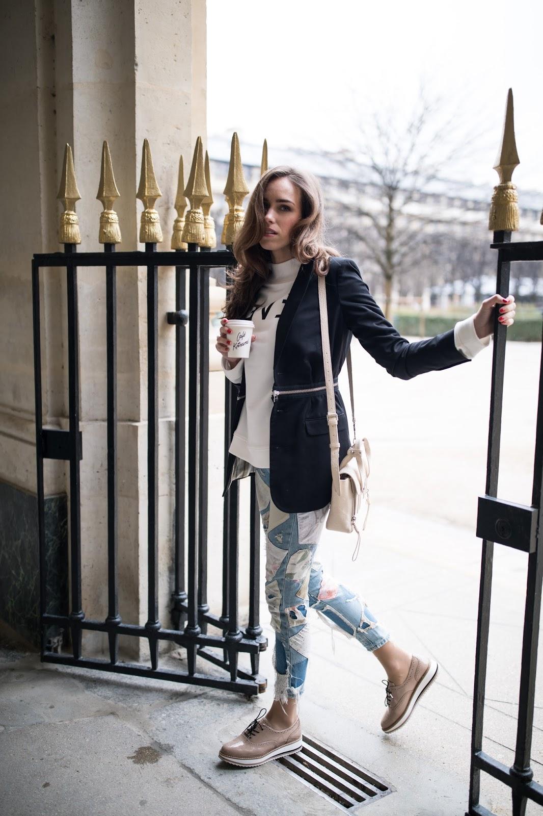 kristjaana mere paris street style spring blazer outfit