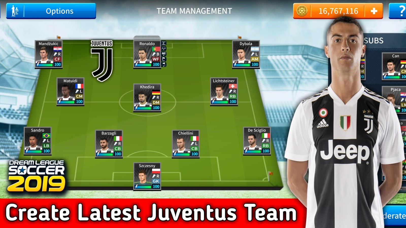 download dream league soccer 2019 mod juventus