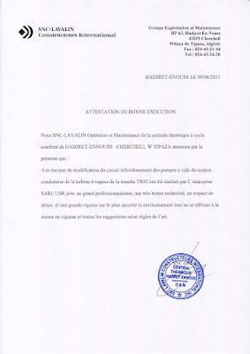 attestation de bonne exécution des travaux, attestation de bonne exécution word, attestation de bonne exécution pdf algerie ,