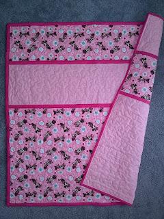 ProsperityStuff Pink Custom Baby Name Quilt