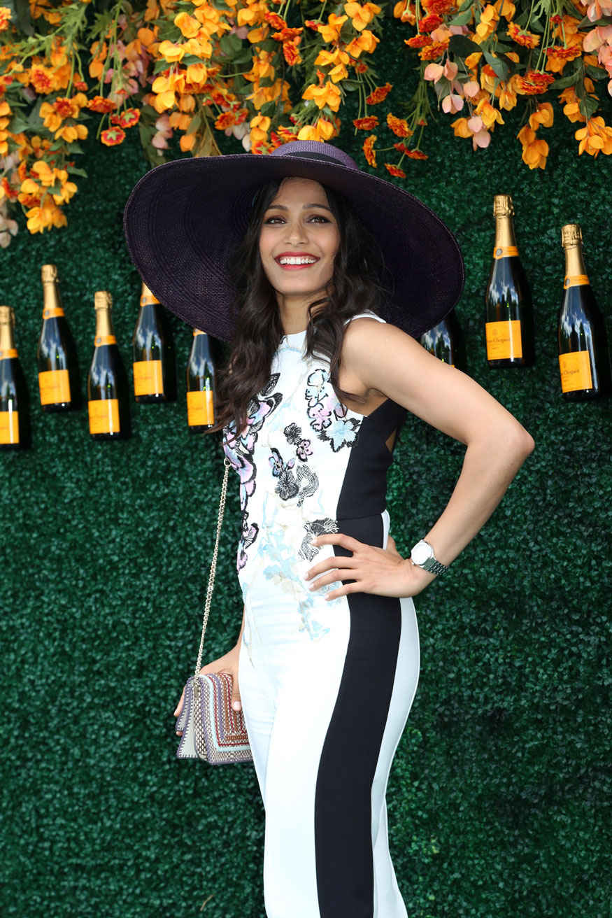 Priyanka Chopra and Freida Pinto at Veuve Clicquot Polo Classic 2017