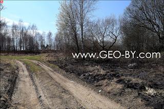 пустырь с палом травы в Станьково