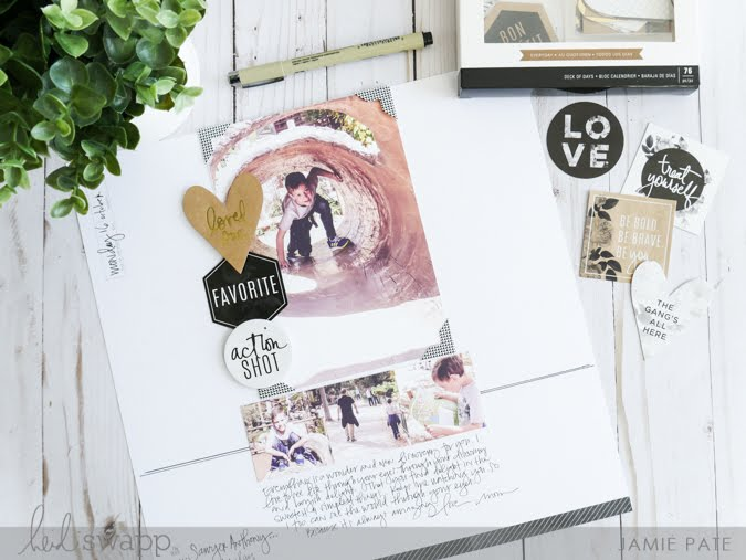 Heidi Swapp Storyline Layout and Sketch by Jamie Pate | @jamiepate for @heidiswapp
