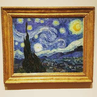 Starry night painting by van Gogh in the MOMA