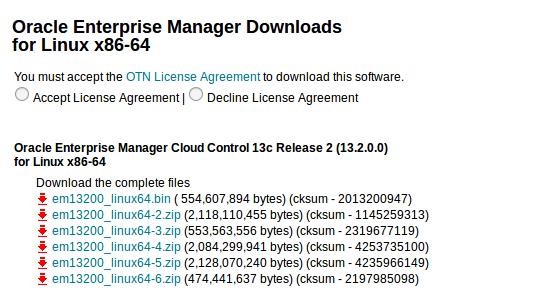Installing OEM 13c on Oracle Enterprise Linux