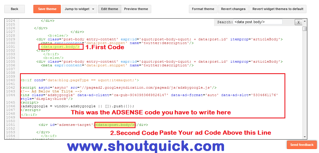 How to Display the Ads Below the Blog Post Title In Blogger - Shout ...