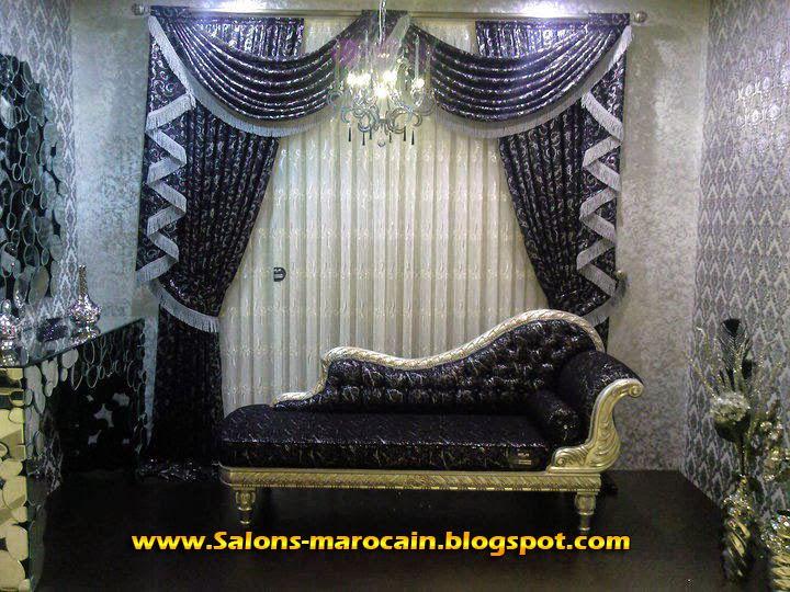 boutique salon marocain 2018 2019 rideaux occultants. Black Bedroom Furniture Sets. Home Design Ideas