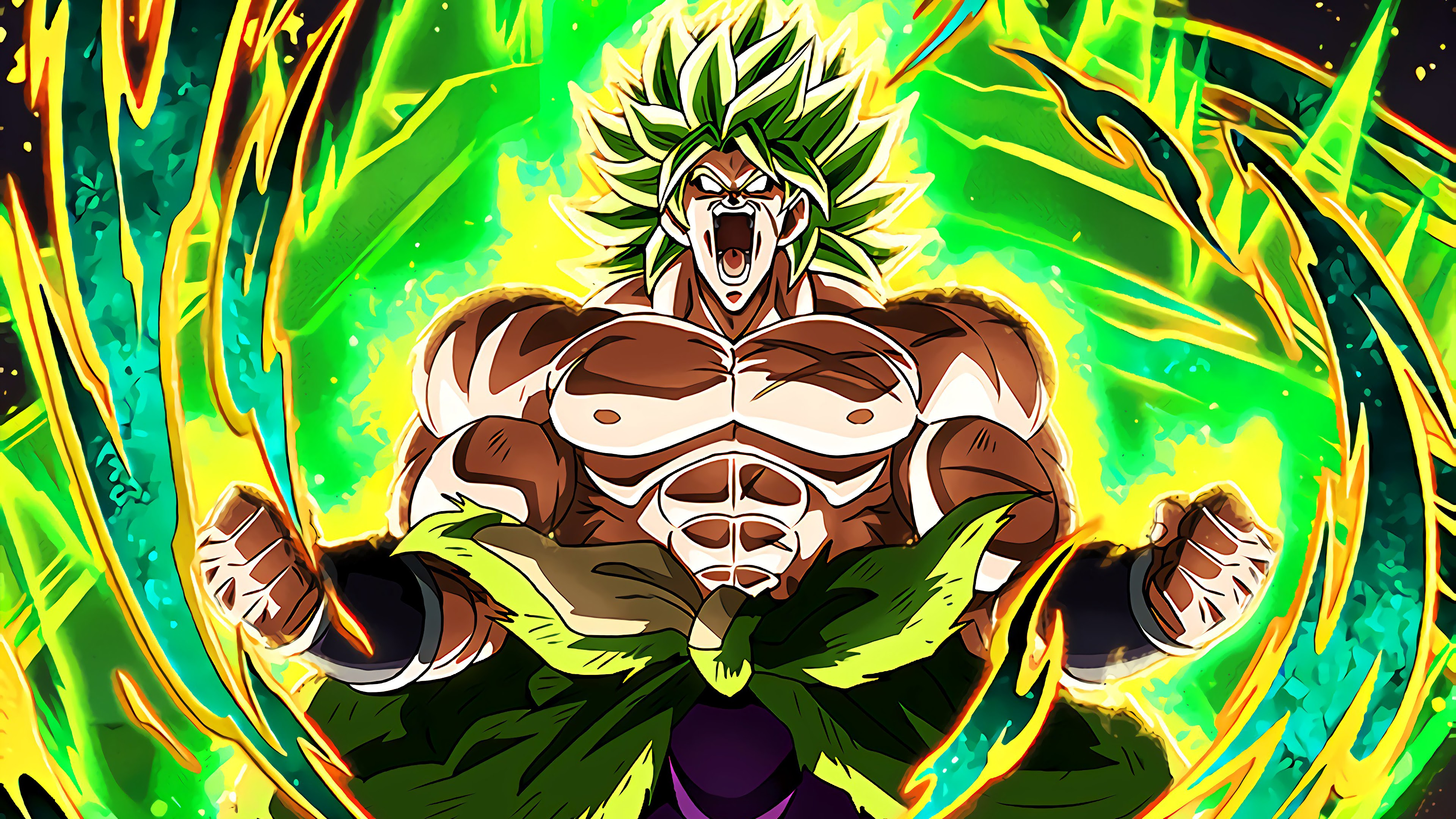 Broly, Legendary Super Saiyan, Dragon Ball Super: Broly, 4K, 3840x2160, #19 Wallpaper