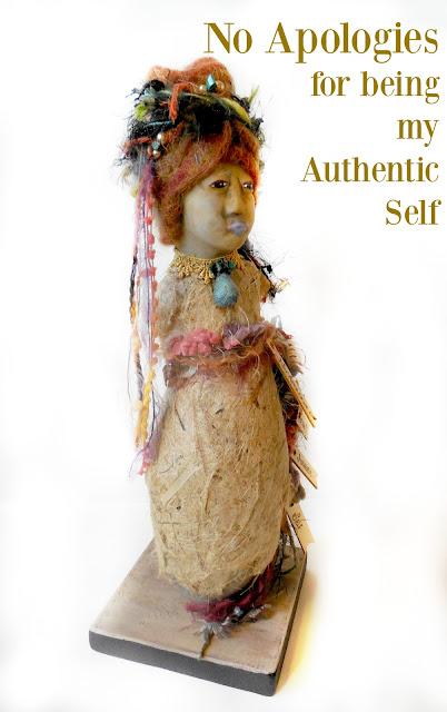 Women's Empowerment Spirit Doll Gourd and Clay Sculpture