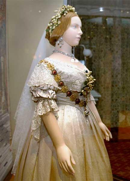 Vestido branco noiva Rainha Vitória casamento Albert, Inglaterra