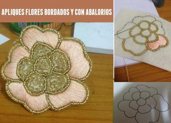 Apliques bordados con abalorios tutorial