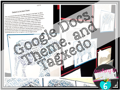 Using Google Docs and Tagxedo to help the students publish their writing about the theme of a book