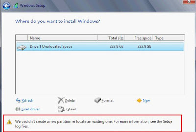 """How to Fix """"We Couldn't Create a New Partition"""" Error When Installing Windows 10"""