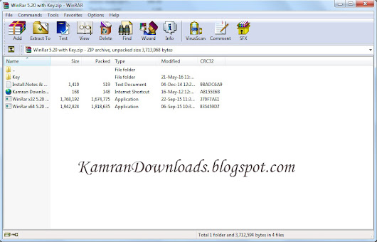 WinRar 5.20 with Key Free Download