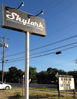 Marquee for the Skylark Lounge on Airport Blvd, Austin, Texas.