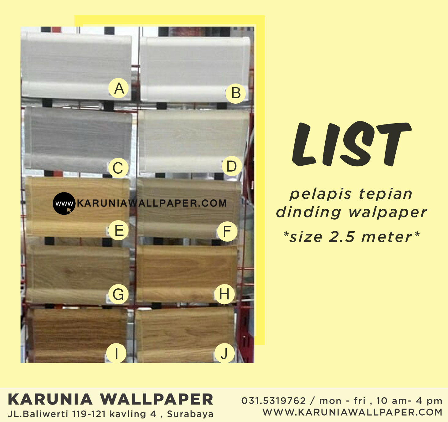 jual list lantai pvc kayu surabaya