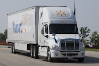 One of Walmart's aerodynamic trucks (Credit: theenergycollective.com) Click to Enlarge.
