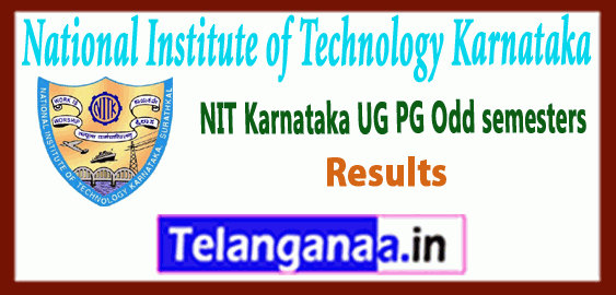 National Institute of Technology Karnataka UG PG 1st 3rd 5th 7th Semester Results