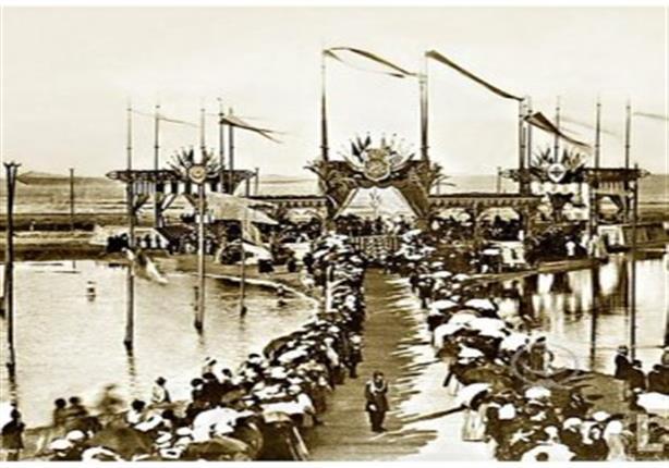 السلطان عبد العزيز الأول و افتتاح قناة السويس في مدينة بور سعيد سنة 1869