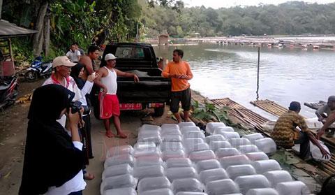Dinas Perikana melakukan pendampingan pada Pembudidaya Ikan